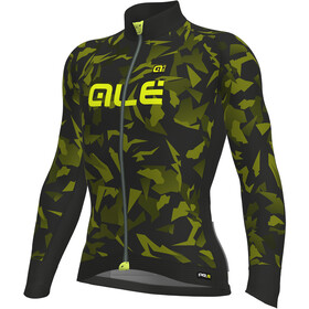 Alé Cycling Graphics PRR Glass Longsleeve Jersey Herre nero-glo fluo/black-yellow fluo